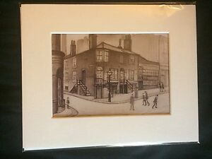 TWO SMALL LS Lowry Prints In Mount Ready To Frame Just £8.50