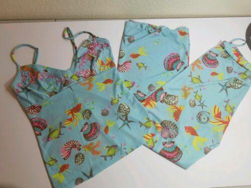 Natori Pajama PANT Set SEASHELL NAUTICAL BEACH FIS