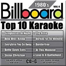 NEW - Billboard Top-10 Karaoke - 1980's Vol. 4 (10+10-song CD+G)