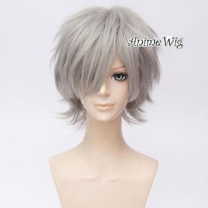 For-Tokyo-Ghoul-Jin-Muyan-Short-Grey-Men-Anime-Cosplay-Wig-Free-Wig-Cap