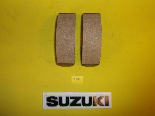 40-601 Emgo SUZUKI FRONT//REAR STREET BIKE BRAKE SHOES NEW NON GROOVED