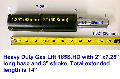 One Heavy Duty 185S.HD Chair Parts Gas Lift / 2 Inch Diameter Cylinder / 350lb