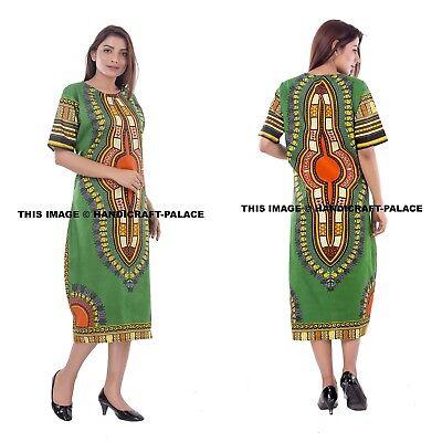 Women Traditional African Print Dashiki Dress Short Sleeve Party Tunic Plus  Size | eBay
