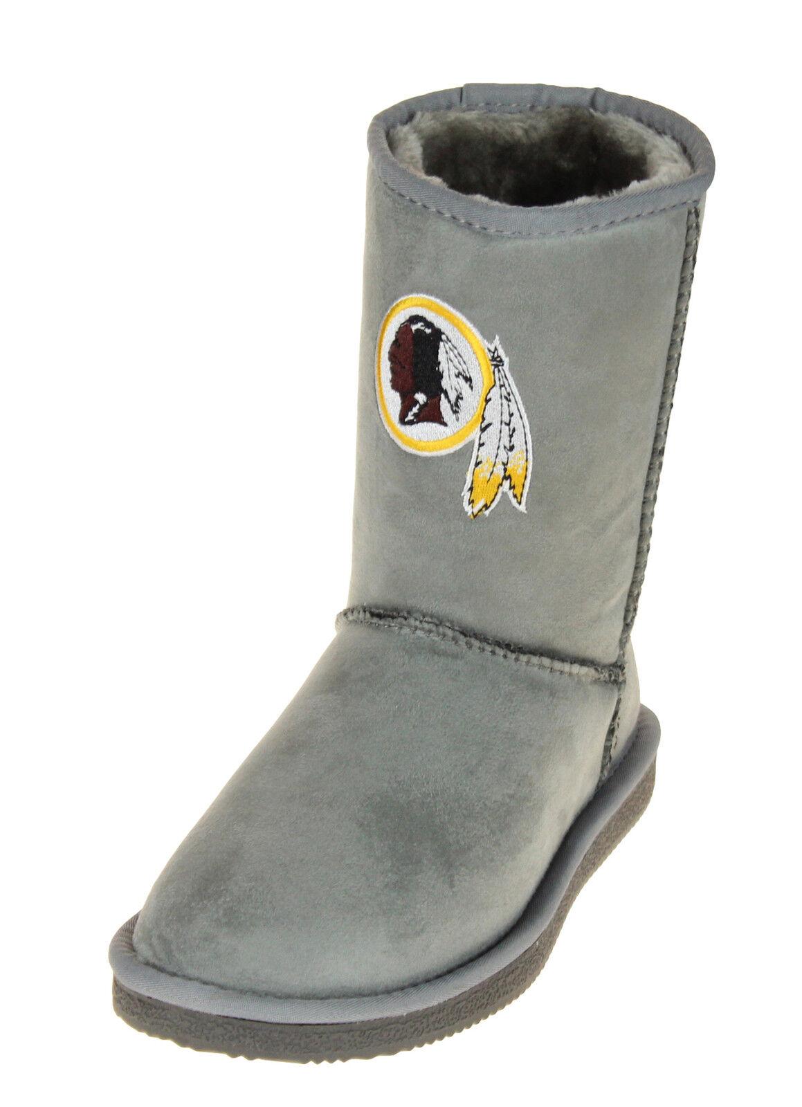 Cuce Zapatos Zapatos Cuce Washington rojoskins Nfl Football Para Mujer la fiel seguidor de arranque-gris a53896