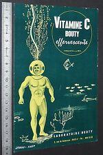 BUVARD 1950 VITAMINE C BOUTY SCAPHANDRE MEDECINE MEDECIN PHARMACIE