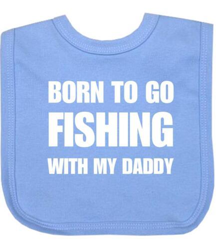 BabyPrem Baby Bib FISHING With Daddy VELCRO® Brand Fastener Daddy Shower Gifts