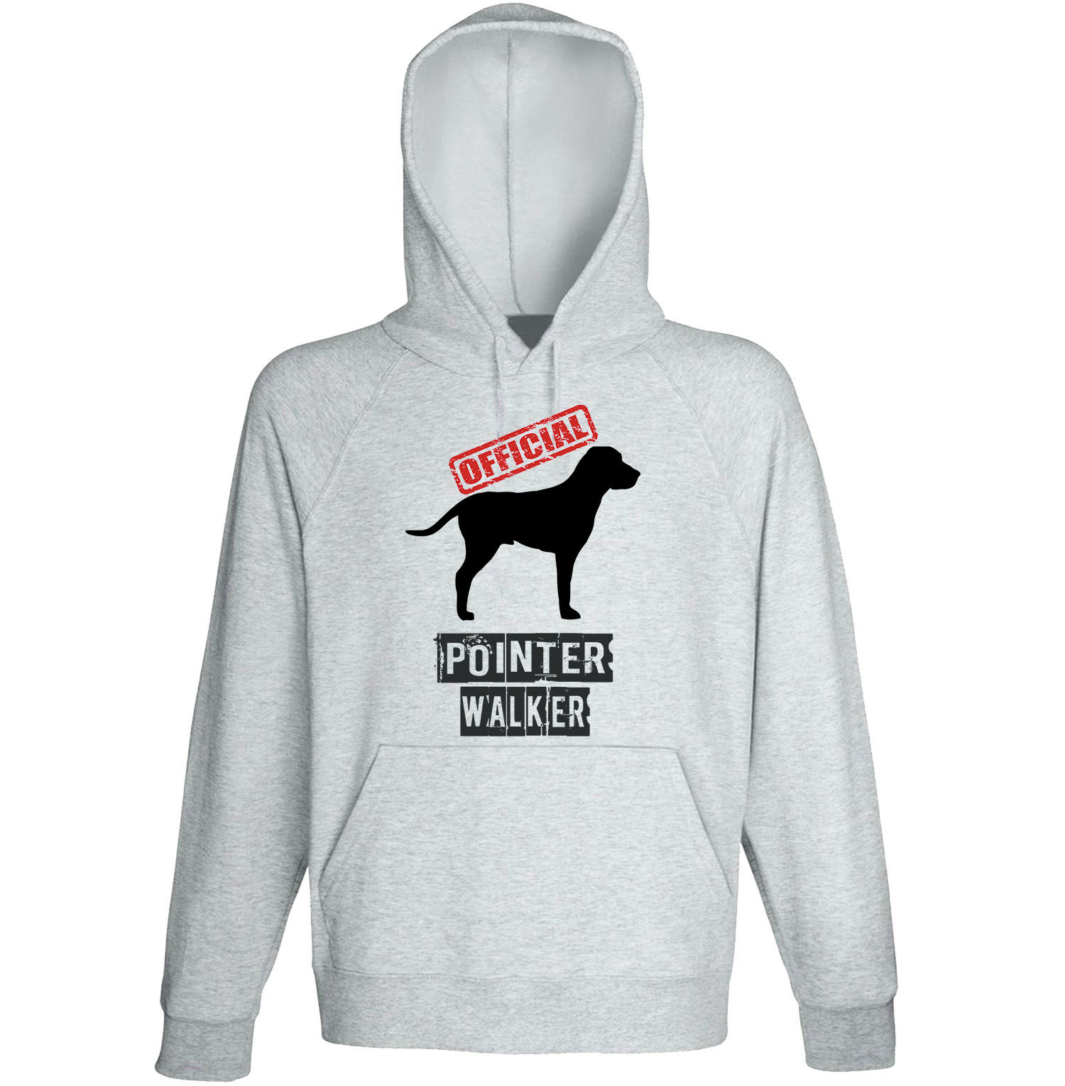 POINTER - OFFICIAL WALKER - NEW COTTON GREY HOODIE