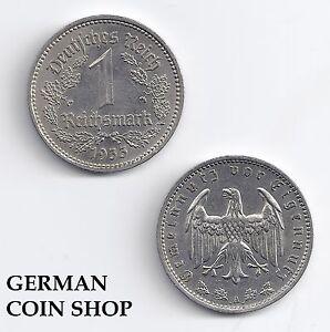 1 Reichsmark Nickel 1933 - 1939 A D E F G J - Veuillez Sélectionner - Troisième Blanc Pur Et Translucide