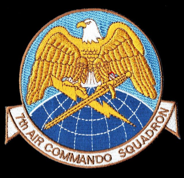 USAF AIR FORCE 7th AIR COMMANDO SQUADRON MILITARY PATCH - MINT*****