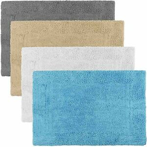 60 X 40cm Non Slip Bath Mats Cotton Pile Soft Amp Absorbent