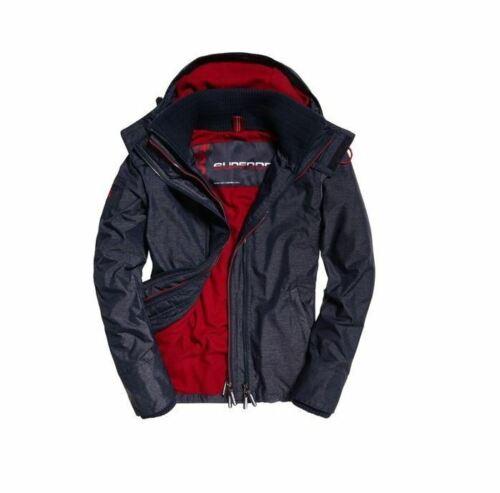 Superdry Mens Pop Zip Hood Arctic WindCheater Coat Indigo M500009ZPDS