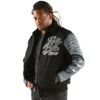 Pelle Pelle Black/chrome Exotic Wool Blouson Jacket
