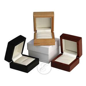 Wood-Ring-Box-Luxuary-Wedding-Engagement-Ring-Box-039-039-Black-039-Mahogany-039-039-Maple-039