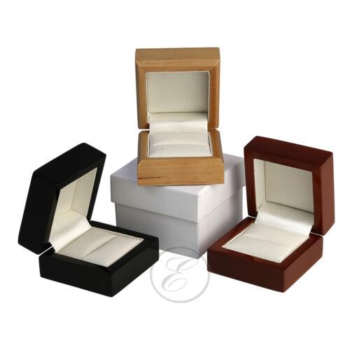 Wood Ring Box Luxuary Wedding Engagement Ring Box /'/'Black/' Mahogany/' /'Maple/'