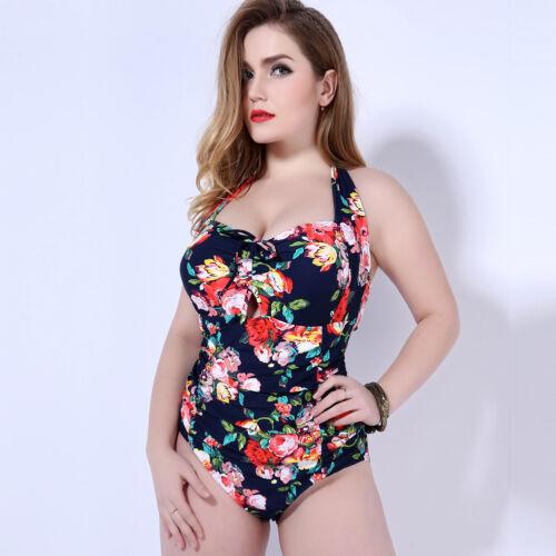 Women Ladies One Piece Swimdress Swimwear Swimsuit Size 10 12 14 16 18 20 #3286