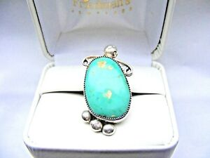 Vtg-Navajo-Pawn-Sterling-Silver-Turquoise-Ring