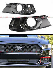 2015-2017 FORD MUSTANG GT REAL CARBON FIBER FRONT BUMPER FOG LIGHT BEZEL COVER