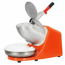 Electric Ice Crusher Shaver Machine Snow Cone Maker Shaved Ice 300w 143lbs