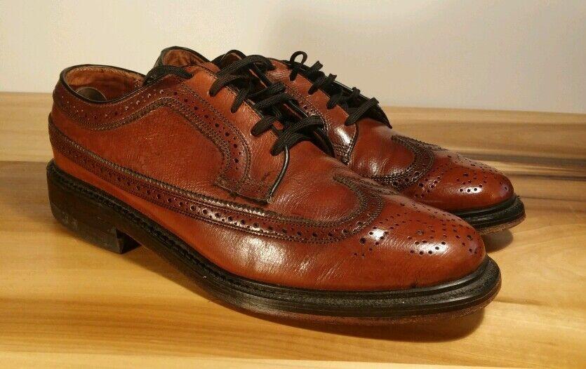 Zapatos De Vestir usado en excelente estado   de Colección personalizada British Walkers Oxford punta del ala Guijarro 7.5 D