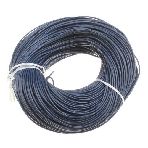 5 metros aproximadamente colgante de cuero cuerda correa de piel Ø 2mm azul oscuro Best c146