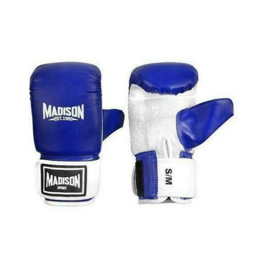 Madison Contender S//M Training Boxing Mitts in Blue RRP $34.99