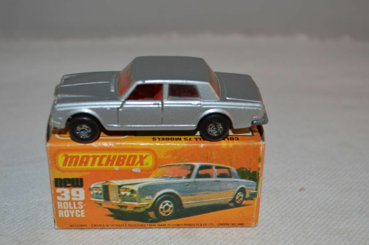 Matchbox Superfast No 39 Rolls Royce THE BOX HAS A FACTORY ERROR