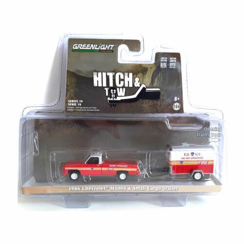 Greenlight 32190-a CHEVROLET m1008 et caravane-Hitch /& Tow échelle 1:64 Nouveau °
