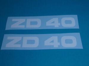 Zündapp ZD 40 Aufkleber Verkleidung Schriftzug Dekor weiß 446-10.133 Typ 446 NEU