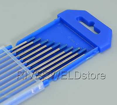 2% Lanthanated WL20 Sky Blue TIG Welding Tungsten Electrodes 2.4mm x 150mm,10PK