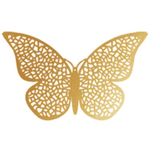 12Stk 3D Hohl Schmetterling Schmetterlinge Wandtattoo Wanddeko Wandaufkleber