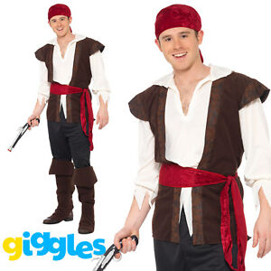 image is loading pirate costume captain mens adult man caribbean halloween