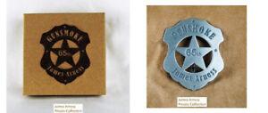 James Arness Marshal Dillon Official Gunsmoke 65th Anniversary  US Marshal Badge