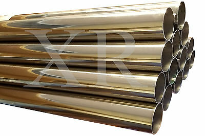 3.5 inch T-304 S//S Stainless Steel Exhaust Piping Tubing 1 Ft long Tube Pipe