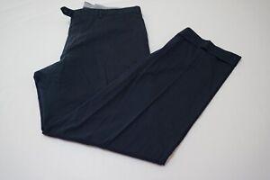 Brioni-Portorico-Cotton-Blend-Navy-Blue-Flat-Front-Casual-Pants-Sz-56R-EU