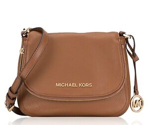 Details about Michael Kors Shoulder Bag Bedford Sm Flap cross Body Leather Luggage New