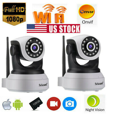 Sricam FHD 1080P IP Camera Security Webcam Supports Onvif Mobile Remote View