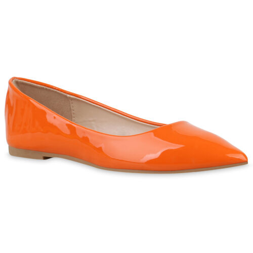 896086 Damen Klassische Ballerinas Lack Slippers Slip On Schuhe Flats Hot