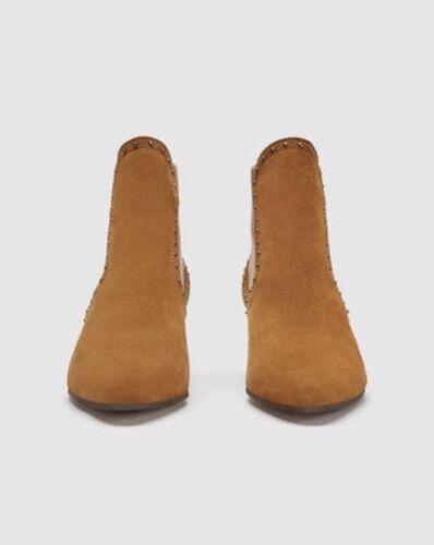 daim clout Boots en Tan Zara 7wxOgUSBqa
