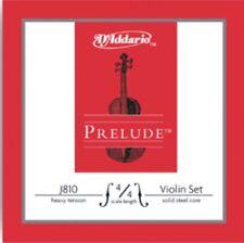 D'ADDARIO J810 Prelude Violin String Set, 4/4 Scale, Heavy Tension