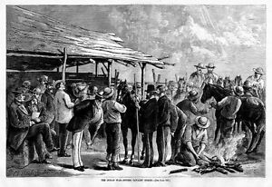 INDIAN WAR, BUYING CAVALRY HORSES, PUBLIC HORSE SALE