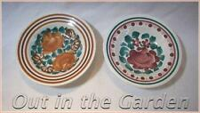 """2 Hand Painted Floral Polish Pottery Bowls 7""""  Wloclawek Fajans - Made in Poland"""
