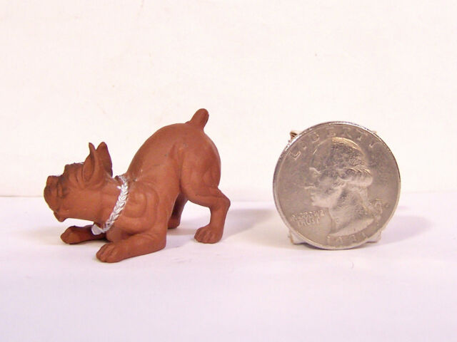 "Brown Boxer Dog 2"" Figure Hood Hounds Homies Figurine NEW"