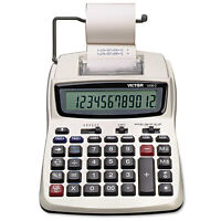 Victor 1208-2 Two-color Compact Printing Calculator Black/red Print 2.3 Lines on sale