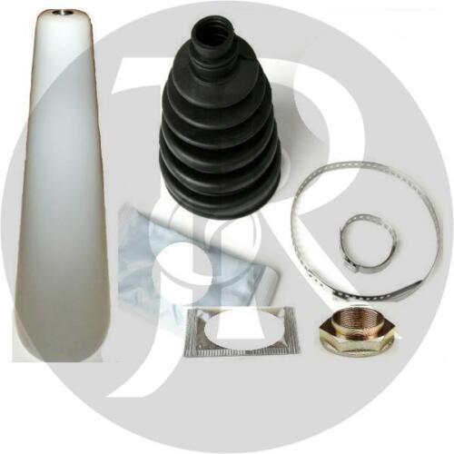 SKODA SUPERB 1.8 T DRIVESHAFT HUB NUT//BOLT /& CV JOINT BOOT KIT /& CONE 02/>08