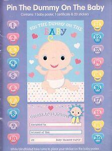 Pin El Chupete En Bebe Divertido Baby Shower Juego Para Fiesta Como