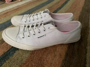Superdry White Canvas Pumps Trainers