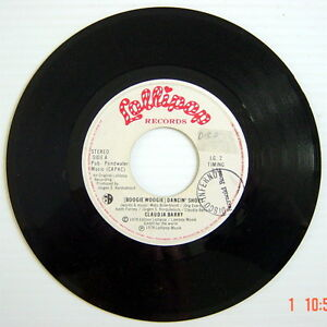 ONE-1978-039-S-45-R-P-M-RECORD-CLAUDJA-BARRY-DANCIN-039-SHOES-FORGET-ABOUT-YOU