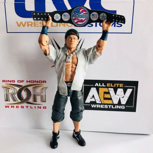 WWE WWF John Cena nos imitación de cuero correa de encargo para título Mattel//Jakks figuras