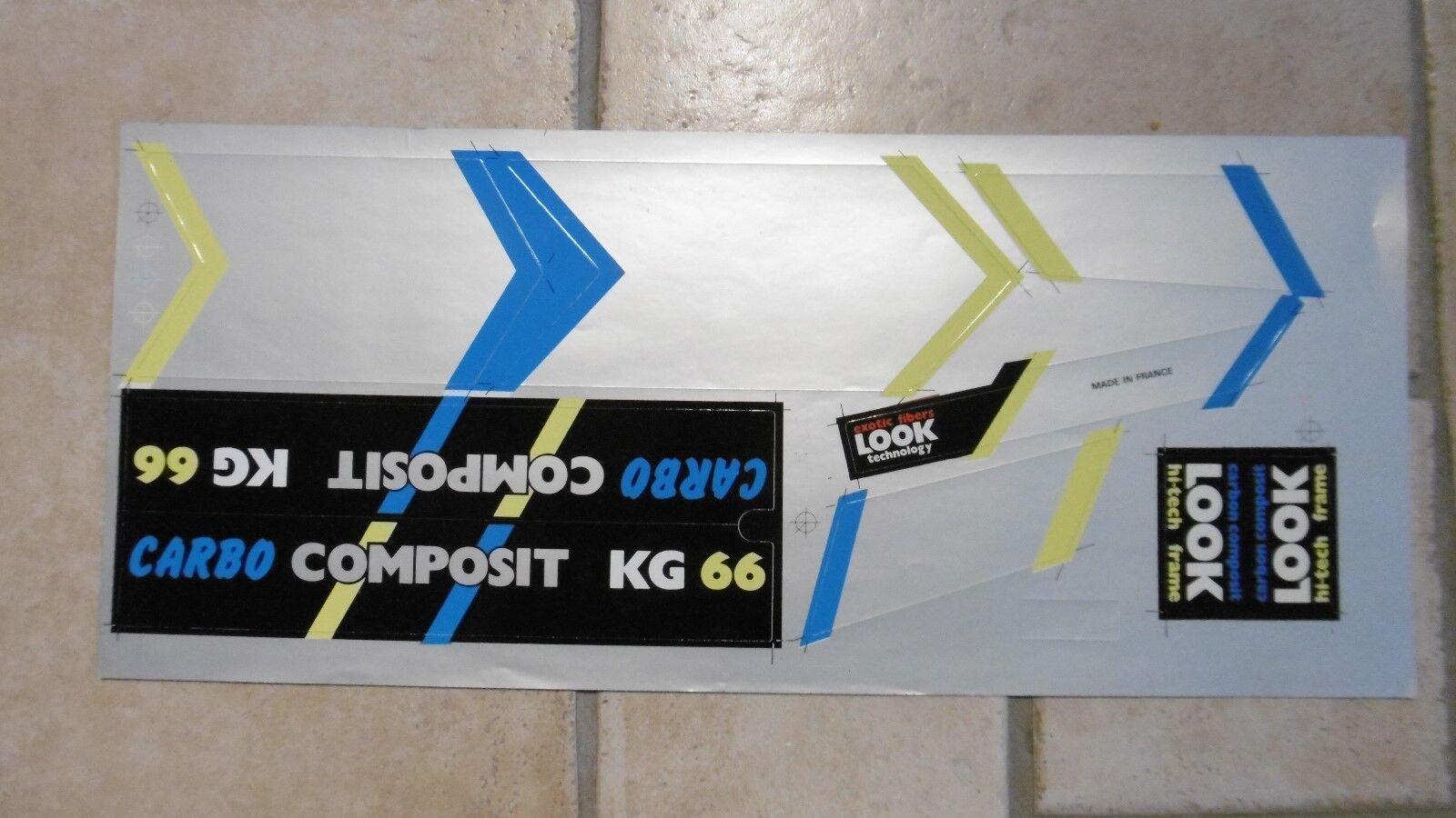 LOOK KG66 Carbo Composit Foil Decals Set