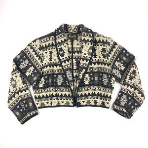 VTG-Scully-Women-s-Aztec-Pattern-Cotton-Jacket-Pioneer-WESTERN-Size-XL